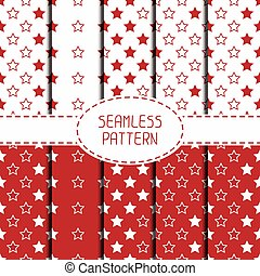 Set of red hipster fashion geometric seamless pattern with diamond. Collection of wrapping paper. Paper for scrapbook. Tiling. Vector illustration. Graphic texture for design.