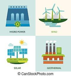 set of renewable energy