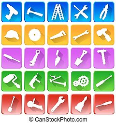 Set of repair and tools icons.