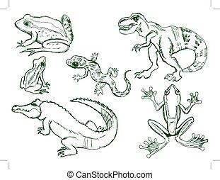 set of reptiles
