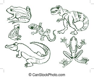 set of reptiles