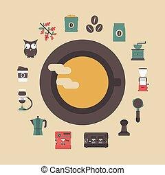 retro coffee icon