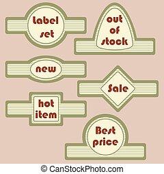 Set of retro decorative labels
