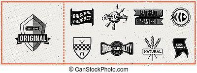 Set of retro hipster labels