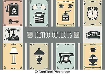 Set of retro household