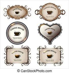 Set of retro labels vintage design