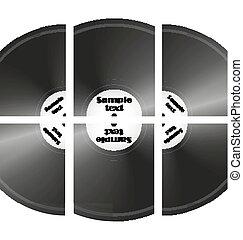 set of retro music vinyl records vector