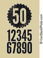 Set of retro numerals.