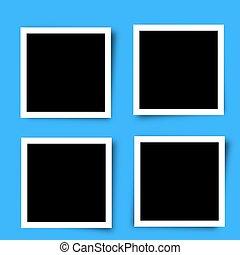 Set of Retro photo frames