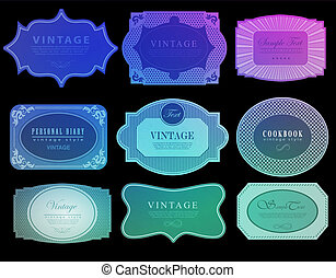 Set of retro ribbons and labels. Vector illustration ?an be used for invitation, congratulation or website
