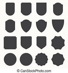 Set of blank retro vintage badges and labels10