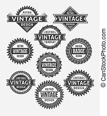 Set of retro vintage badges and labels. Vector design...