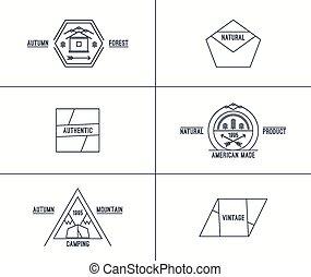Set of retro vintage badges