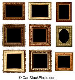 set of retro vintage frame
