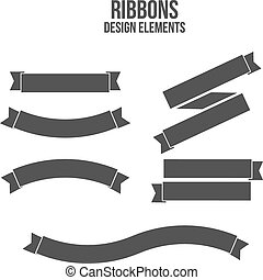 Ribbons Design elements. Vector