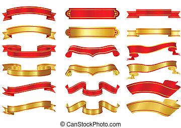 Set of Ribbons - illustration of set of different shape...
