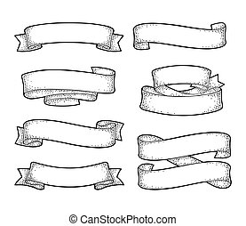 Set of ribbons isolated on white background. Vector