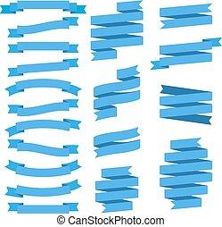 Set of ribbons, vector illustration