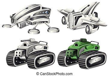 Set of robot car