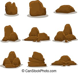 Set of rock collection vector