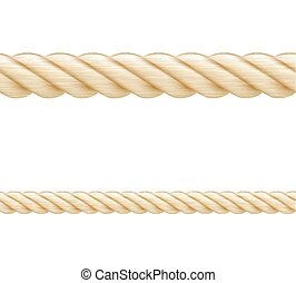 Set of ropes seamless elements