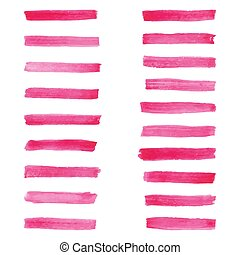 Set of rose watercolor brushes for painting