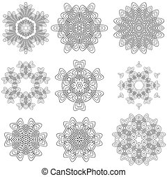 Set of Rosettes