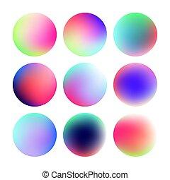Set of round color gradient