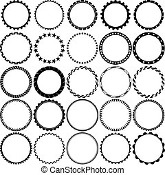Set of Round Decorative Borders