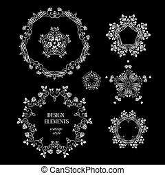 Set of round elements