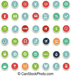 set of round icons information
