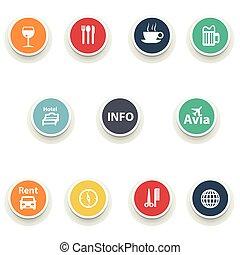 set of round icons.