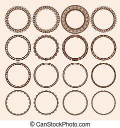 Set of Round Pattern Frames