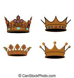 Set of royal crowns