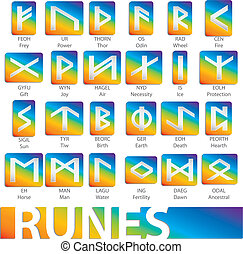 set of runes vector