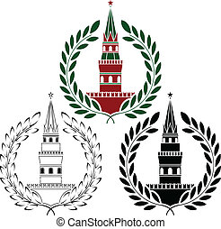 set of russian towers