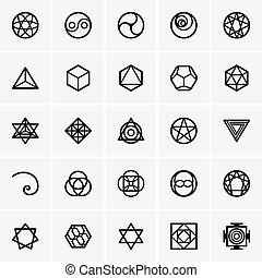 Sacred geometry icons - Set of Sacred geometry icons