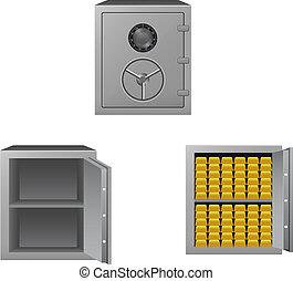 Set of safes