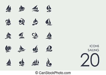 Set of sailing icons