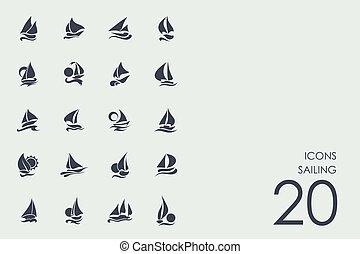 Set of sailing icons