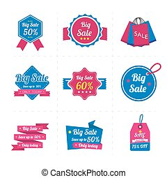 Set of sale banner. Sale Labels.