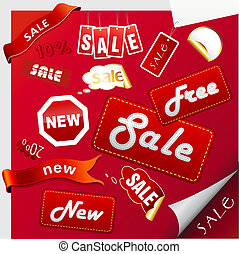 Set of sale icons, labels, stickers.