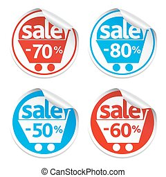 Set of sale sticker