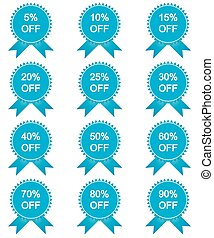 Set of sale stickers, labels