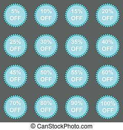 Set of sale stickers. Vector.