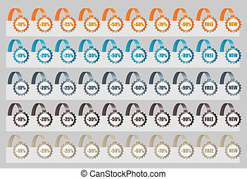 Set of Sale Tags. Vector illustration