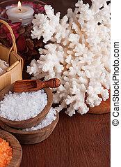 Set of salt for spa