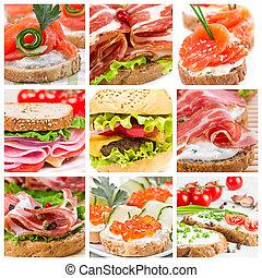Set of sandwiches