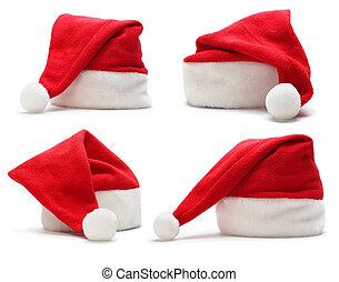 set of santa claus hat