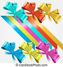 set of satin ribbons